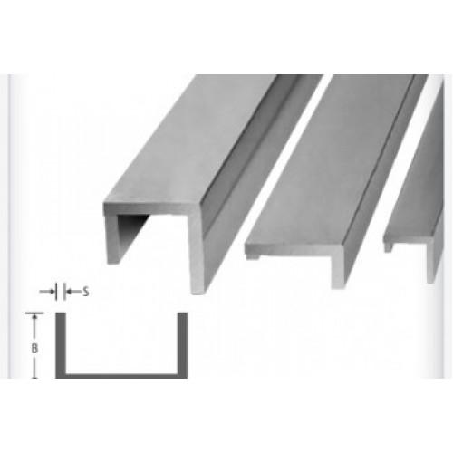 Perfil U Abas Desiguais de Alumínio