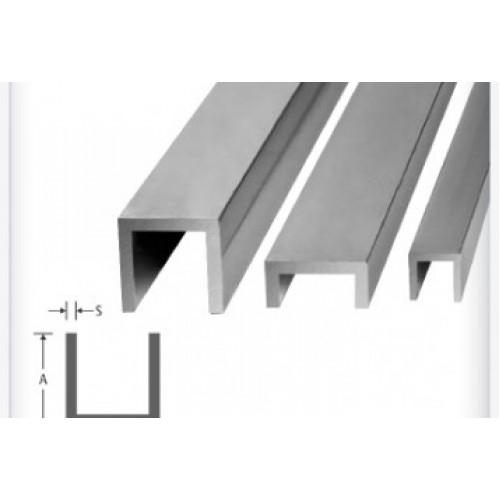 Perfil U Abas Iguais de Alumínio